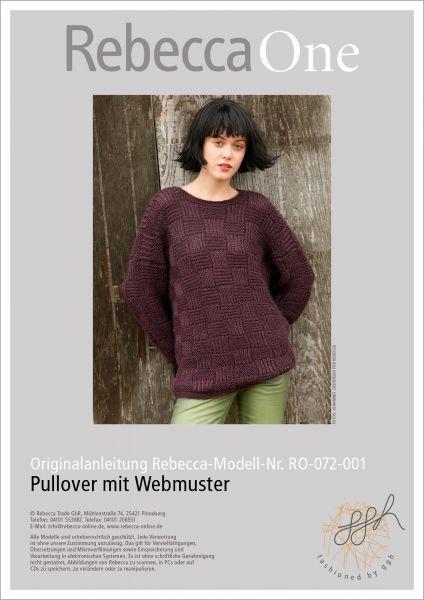 Strickanleitung - Pullover mit Webmuster