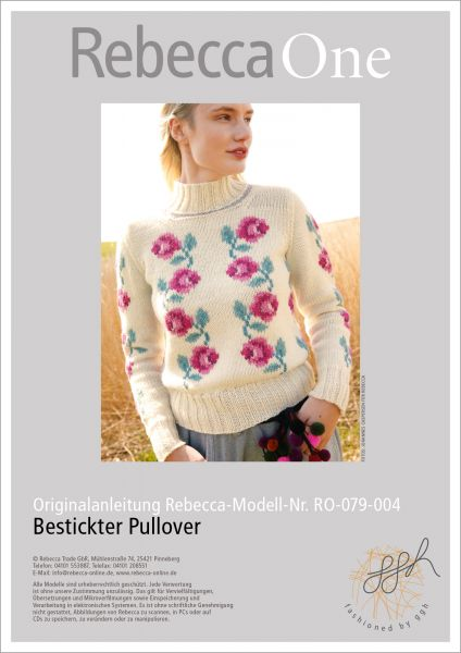 Anleitung - Bestickter Pullover