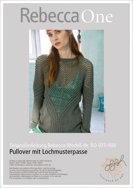 Strickanleitung - Pullover mit Lochmusterpasse
