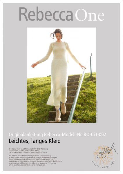 Strickanleitung - Leichtes, langes Kleid