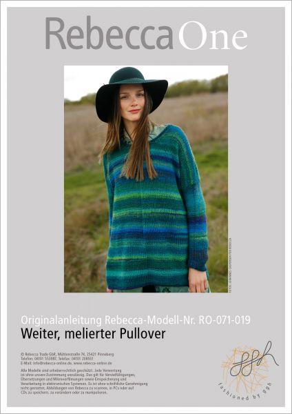 Strickanleitung - Weiter, melierter Pullover