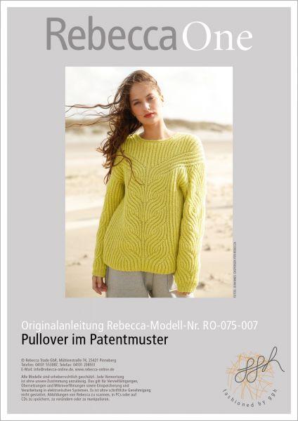 Strickanleitung - Pullover im Patentmuster