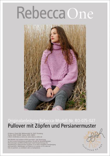 Strickanleitung - Pullover mit Zöpfen