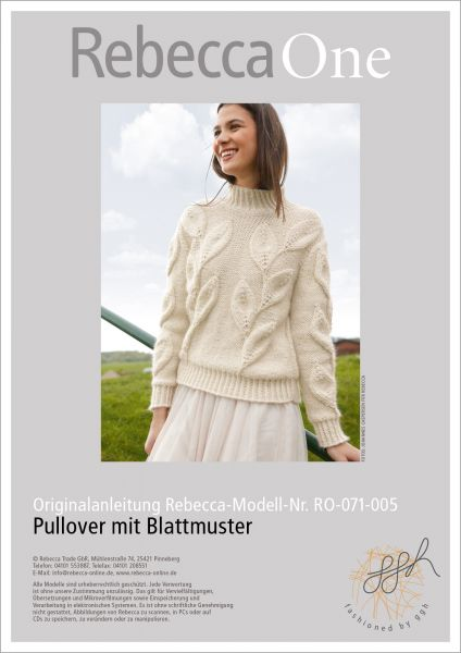 Strickanleitung - Pullover mit Blattmuster