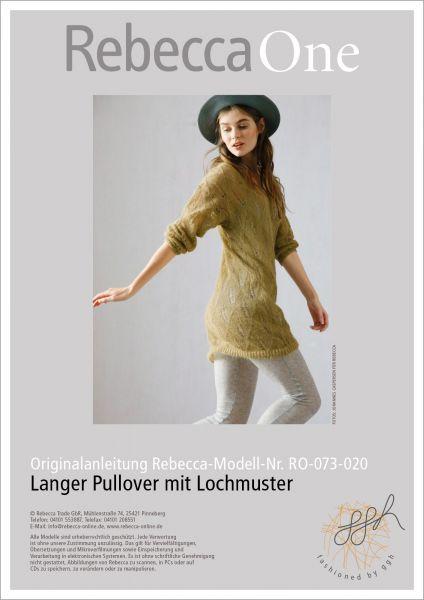 Strickanleitung - Langer Pullover mit Lochmuster