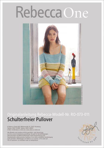 Strickanleitung - Schulterfreier Pullover