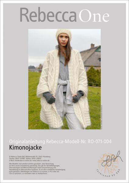 Strickanleitung - Weite Kimonojacke