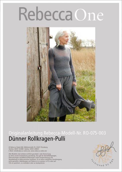 Strickanleitung - Dünner Rollkragen-Pulli