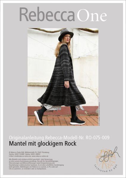 Strickanleitung - Mantel mit glockigem Rock